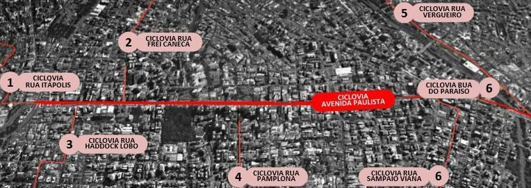 Interligação da Ciclovia da Avenida Paulista com outras ciclovias da Cidade
