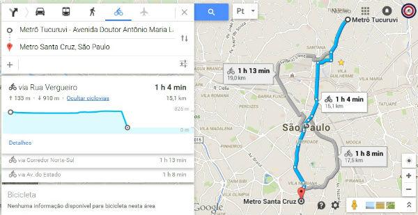 Google Maps passa traçar rotas de bicicleta em quatro cidades brasileiras