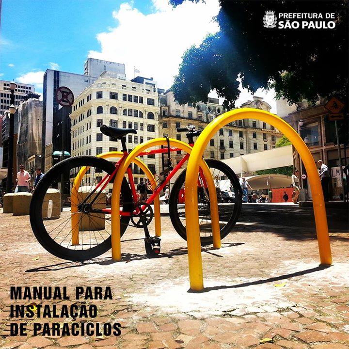 Prefeitura desenvolve manual para instalação de paraciclos na cidade