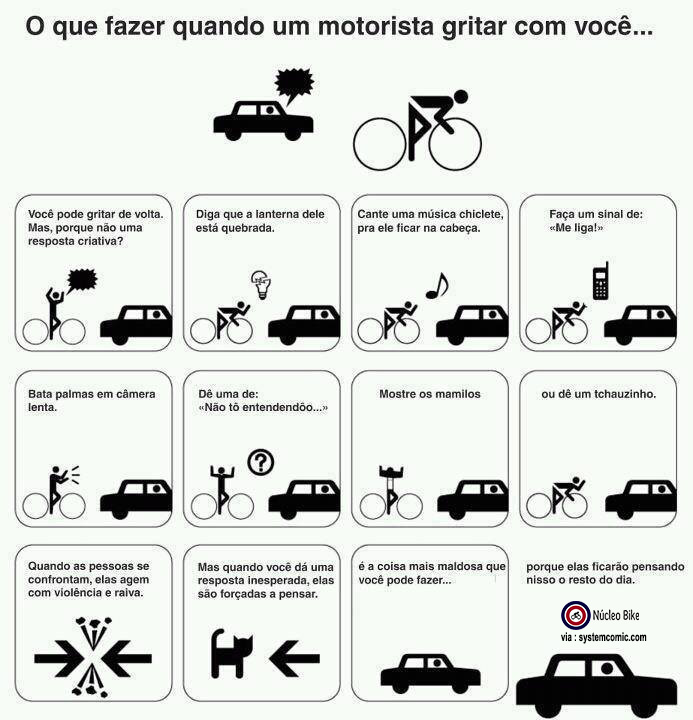 O que fazer quando um motorista gritar com você...
