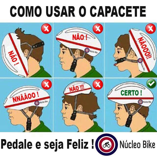 Como usar o capacete de ciclismo