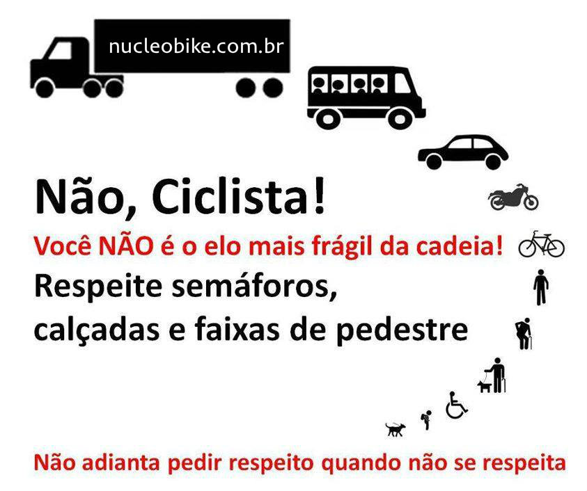 Ciclista, Respeite
