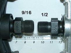 """Diferenças entre pedal rosca grossa 9/16"""" e pedal rosca fina 1/2"""""""
