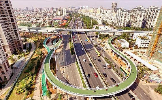 Maior ciclovia aérea do mundo é inaugurada na China